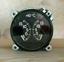 Cylinder Head Temperature Measuring Device 2 TYE 1T Aircraft Dashboard Vintage