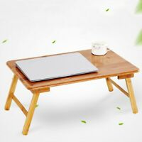 Folding Bamboo Wood TV Tray Dinner Table Bed desk Serving Snack Tea Portable