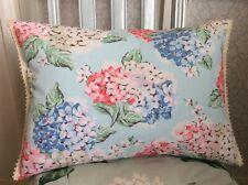 Bespoke MTM Cath Kidston Powder Blue Hydrangea Feather Cushion Bobble Trim NEW