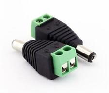 2.1mm Male Plug to Screw Terminal Block for Dolls House wiring (00922)
