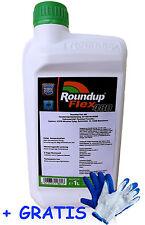 SET: 1L Roundup Flex (PowerFlex)+ Handschuhe Unkrautvernichter Roundup 480g/l Gl