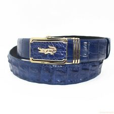 Blue Genuine Alligator Crocodile Leather Skin Men's Belt, W1.5'