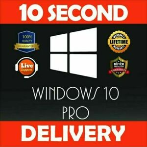 WIN 10 Pro Professional Win10 PRO-Vollversion Lizenz Key 32/64bit Lebenszeit🔐🔐