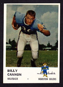 1961 FLEER #171 BILLY CANNON OILERS