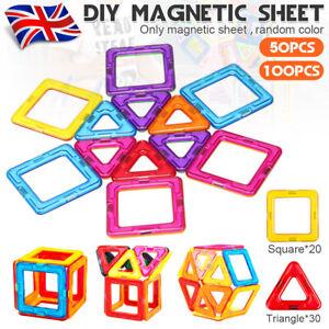 100x Magnet Building Tiles Magna Construction Blocks Puzzle Kids Brain Car Train