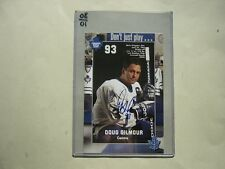 1990`S NHL HOCKEY PHOTO DOUG GILMOUR AUTOGRAPH AUTO SHARP!! TORONTO MAPLE LEAFS