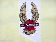 HARLEY DAVIDSON Motorcycles Vintage BAR SHIELD WINGS Inside Glass Decal Sticker