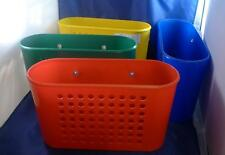 LOT 4 Plastic Wall Organizers Suction Cup Red Yellow Blue Green Store More