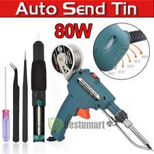 60with80w Auto Soldering Gun Kit 110v Withwelding Desoldering Pump Tin Wire Amptweezes