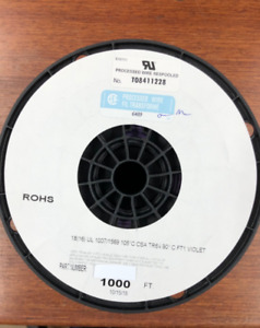 """18 AWG Gauge Stranded Hook Up Wire Violet 1000 ft"""" UL1007 300 Volts"""