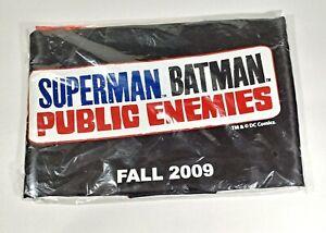 Superman Batman Public Enemies DC 2009 2-Sided Promo Cape NEW in Bag! Rare!