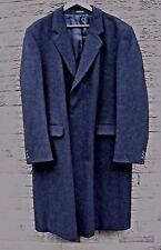 Mens Vintage Marks & Spencer M&S 100% Wool Overcoat - Dark Grey 46UK - EXCELLENT