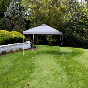 Sunnydaze 10x10 Foot Premium Pop-Up Canopy with Rolling Carry Bag - Gray