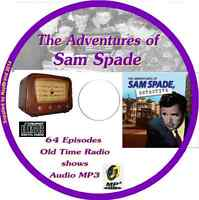 The Adventures of Sam Spade 64 OTR Old Time Radio Episodes Audio MP3 on CD