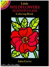 Adult Coloring Book Little Wildflowers Stained Glass Small Booklet Hobby Outdoor