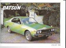 DATSUN SKYLINE 240K COUPE CAR SALES BROCHURE JANUARY 1980