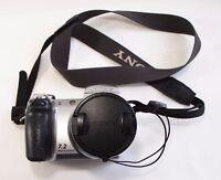 Sony Cyber-shot DSC-H5 7.2 MP Digital Camera - Silver PARTS OR REPAIR - LCD GOOD