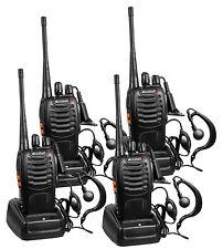 Radio Comunicador De Largo Alcance Walkie Talkie De Dos Vías Con Audífonos