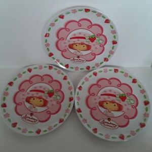 "Strawberry shortcake Lot Of Three 8"" Child's Melamine Plates 2003"