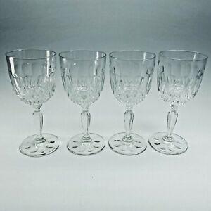 "Vintage VMC Reims 6"" Clear Wine Glass Teardrops & Diamonds VMR3 (Set of 4)"