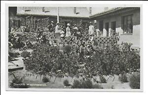 China Swedish Missionaries in Garden at Shenchih Baptist Mission Station RPPC