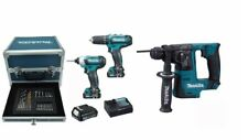 MAKITA KIT CARTONGESSO 2 AVVITATORI + TASSELLATORE + 4 BATTERIE  10,8V LITIO