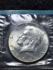 1964 50C Kennedy Half Dollar 90% SILVER SMS in CELLO FREE S/H Philadelphia Mint