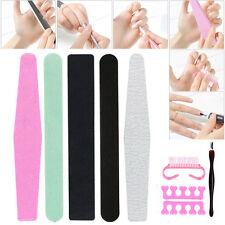 8Pcs/Set Arte de uñas manicura Lijado de pulido Archivo Polaco limas de uñas