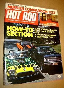 Hot Rod Magazine October 1973 Muffler Comparison Test - How an Engine Works