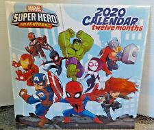Marvel Super Hero Adventures  Bendon Twelve Month Calendar 2020 Sealed New