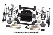 "Zone Offroad 5"" Lift Suspension Nitro Shocks 11-16 GM 2500HD 4x4 for 35"" Tires"