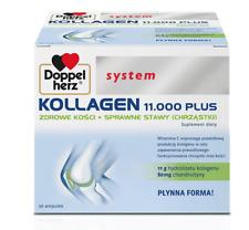 DOPPELHERZ® system KOLLAGEN 11000 PLUS 30 ampoules x 25ml, FREE P&P