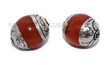 Amber Beads Nepal beads Tibetan beads Boho beads Silver Beads Tibet Beads