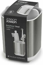 Joseph Joseph SMALL Stainless-Steel Toothbrush Holder Bathroom Storage