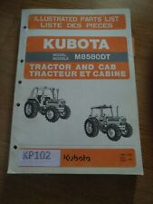 Kubota M8580dt Tractor And Cab Illustrated Parts List Catalog Manual