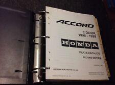 1998 1999 HONDA ACCORD 2 DOOR Parts Catalog Manual Second Edition OEM Factory
