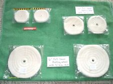 "(6) 3, 4 & 6"" DIA Cotton polisher Buffing Wheels 1/4 & 1/2 Arbor Holes 1/2""Thick"