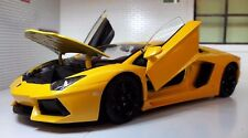 1:24 Scale Welly Yellow Lamborghini Aventador LP LP700-4 Detailed Diecast Model
