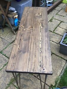 Rustic Industrial  Table , Desk Made From Reclaimed Reclaimed Scaffold Planks