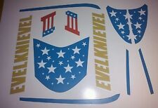 "CUSTOM ""EVEL KNIEVEL"" CANYON SKY CYCLE  STICKERS"