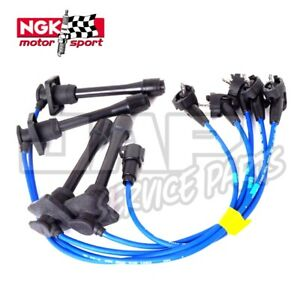 NGK BLUE IGNITION LEADS   Toyota Starlet Glanza V GT Turbo EP82 EP91 4E-FTE