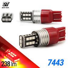 2X 7443 Red 60W High Power 3535 Chip LEDs Turn Signal Blinker Light Bulbs