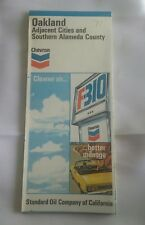 1971 Chevron Oakland Adjacent Cities & Southern Alameda County Road Map