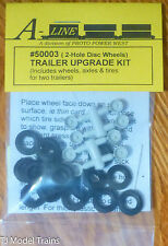 A-Line HO #50003 (2-Hole Disc Wheels) Trailer Upgrade Kit /Includes Wheels,Axles