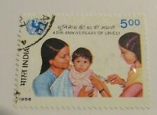 INDIA Scott #1133 Θ used, 40th Anniversary of Unicef, fine + 102 card