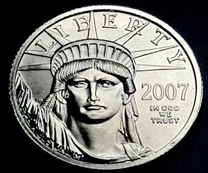 2007 American Platinum Eagle 1/4 oz $25 Regular Strike