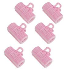 6pcs Pink Rollers Hair Curlers Styling Tool Hairdressing Hair Style DIY Tool