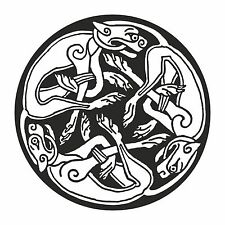 Celtic Dog Sticker for Luck Health Strong Bond Bumper Laptop Tablet Fridge Door