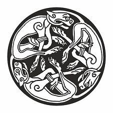 1x autocollant Celtic 3 chiens autocollant vinyle voiture moto religieux