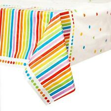 RAINBOW PLASTIC PARTY TABLE COVER NEW GIFT